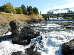 spokane river with water