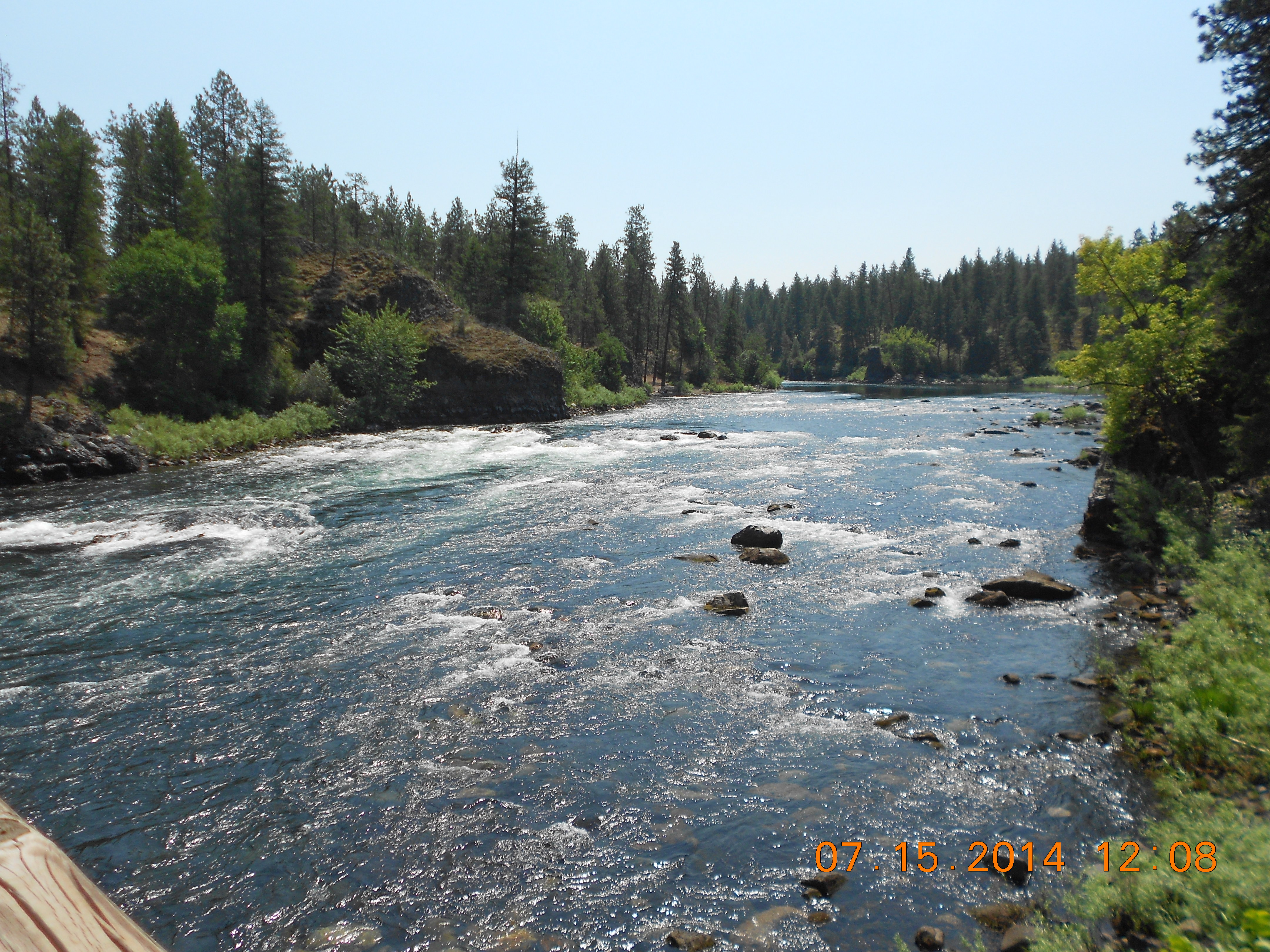 Spokane River at 2500 cfs  - Photo by John Osborn, taken at Riverside State Park