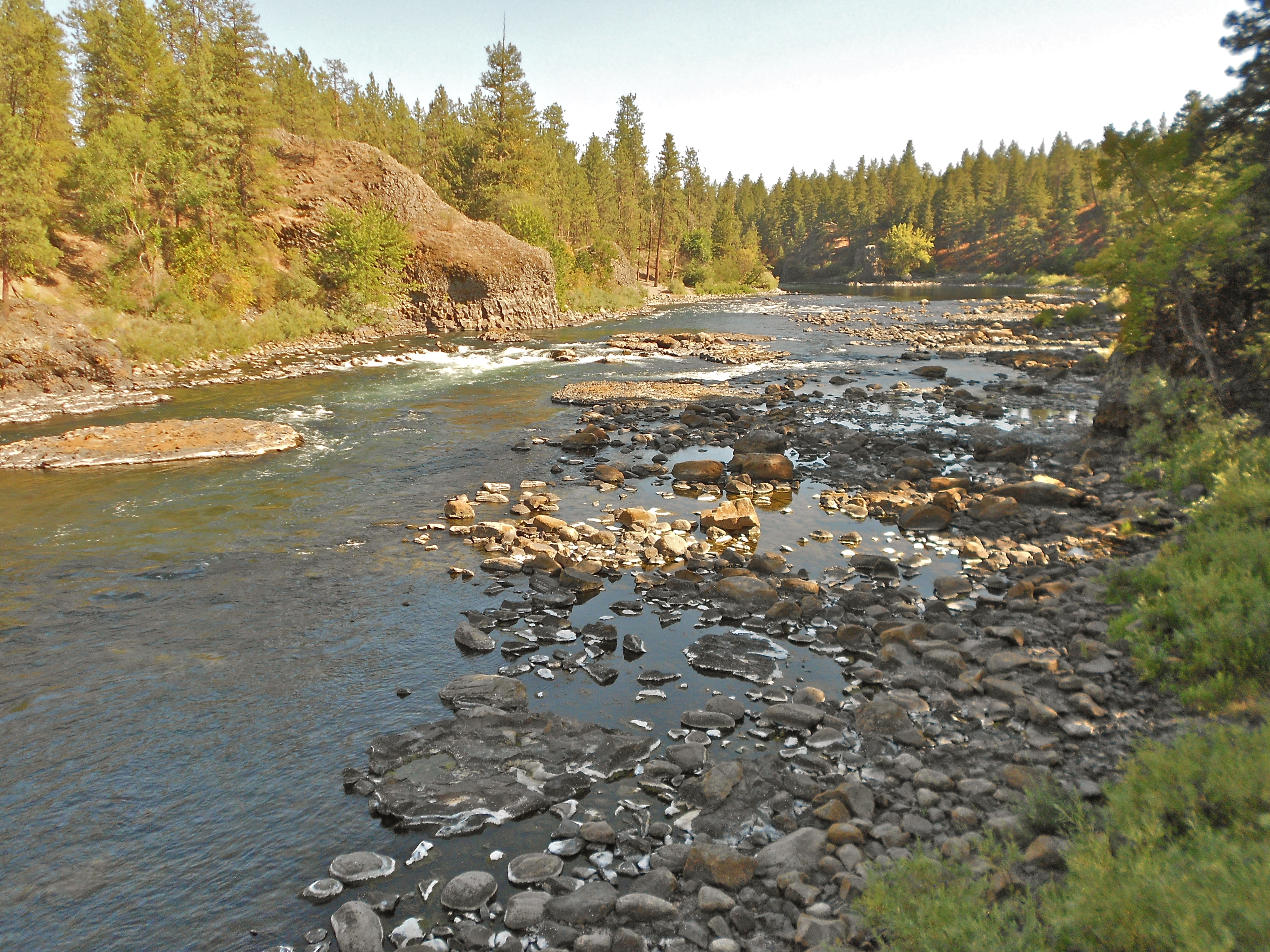 Spokane River at 630 cfs - Photo by John Osborn taken at Riverside State Park