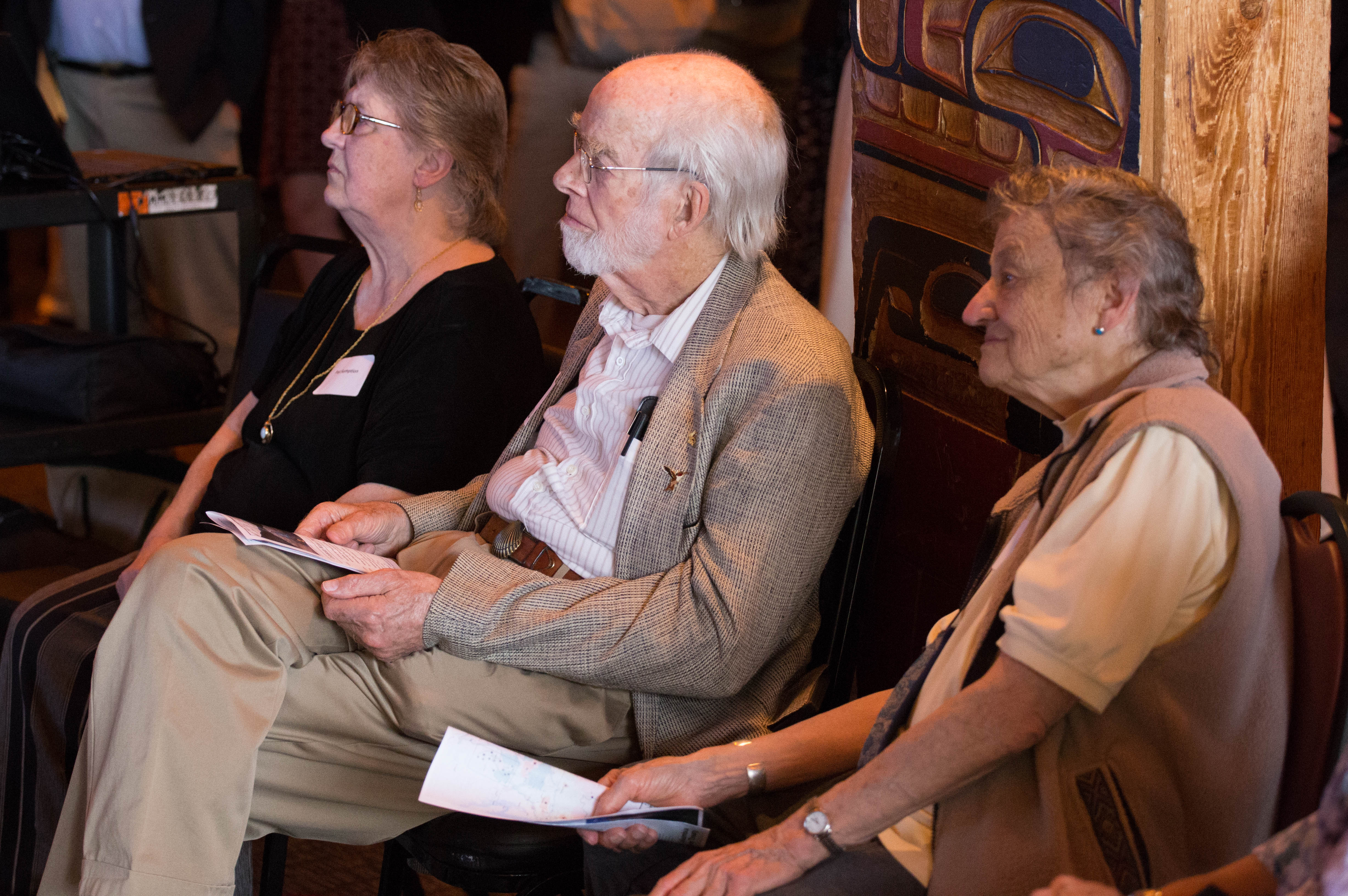 CELP Honorary Board member, Fran Wood (center) and Estella Leopold (right)