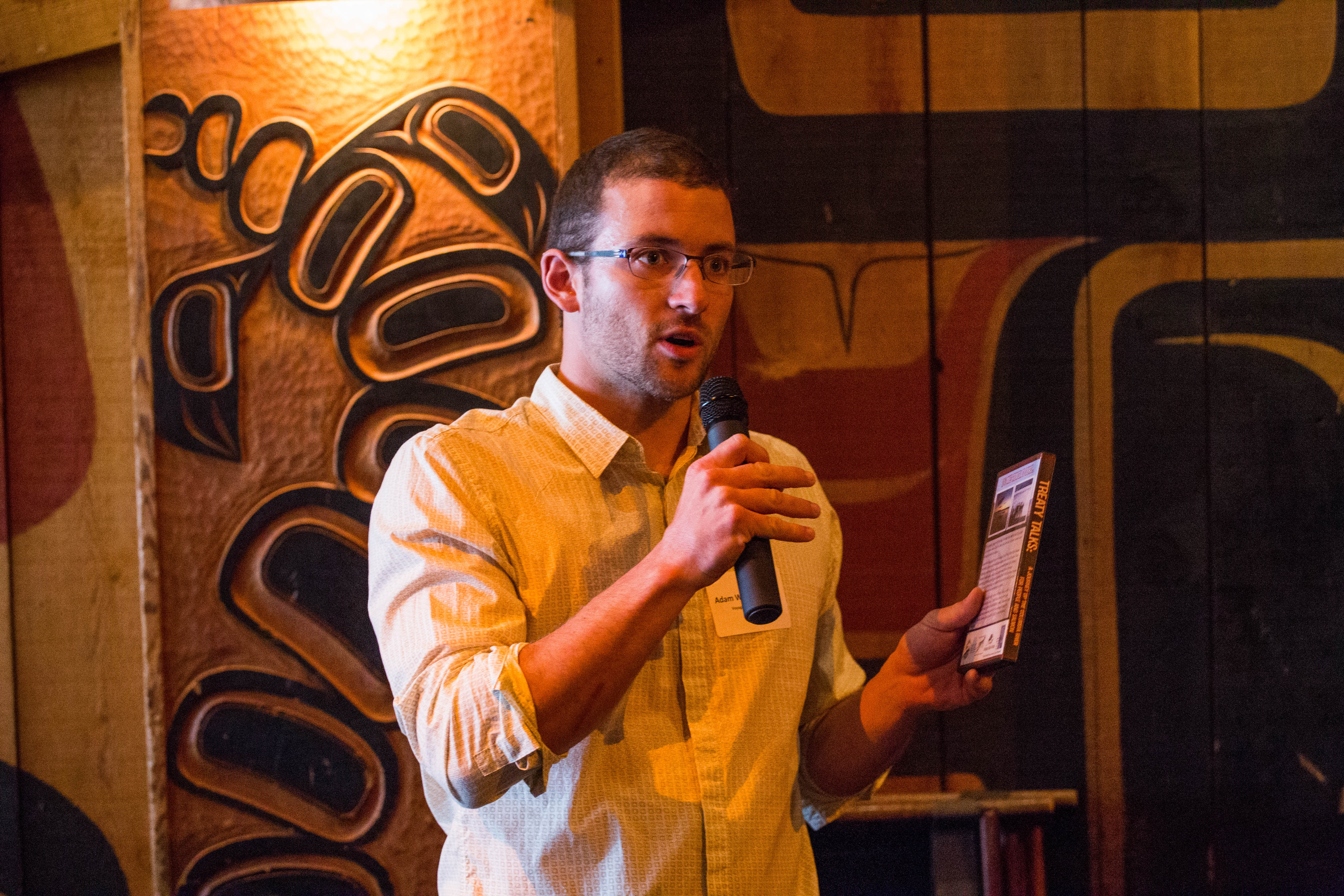 Adam Wicks-Arshack from Voyages of Rediscovery, talking about their video, Treaty Talks